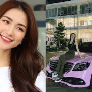 Hoà Minzy khoe Mercedes S-Class màu hồng giá hơn 5 tỷ